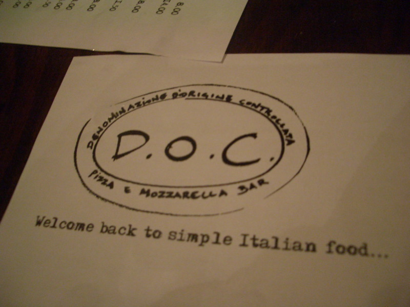 DOC: welcome back to simple Italian food!