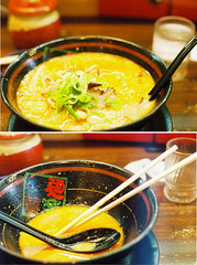 before/after (bobby stokes) Tags: food hot film japan lunch japanese diptych ramen nagoya spicy analogue manual ラーメン 名古屋 グルメ