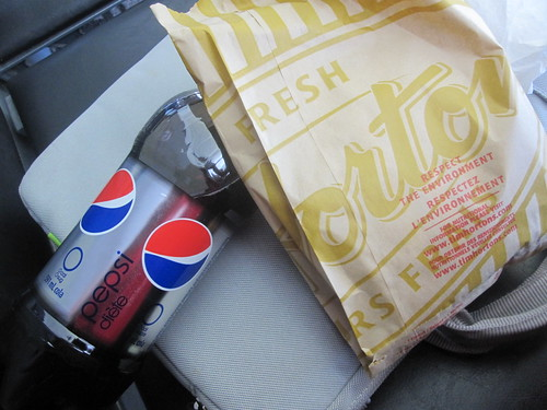 Timatin sandwich, Diet Pepsi - $4.83 at Tim Horton (Montreal airport)