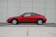 White red (v6rev) Tags: auto red rot sports car automobile turbo alfa romeo gtv vehicle 1997 rosso fahrzeug v6 pininfarina 916 machina kfz