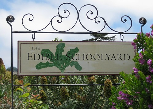 The Edible Schoolyard Sign by Eve Fox, Garden of Eating blog