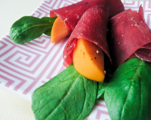 Post image for Bresaola-Wrapped Persimmons with Arugula