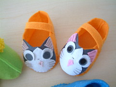 lovely felt shoes (fairyfox) Tags: diy handmade tutorial feltshoes feltpattern easysew fairyfox onehourcrafts