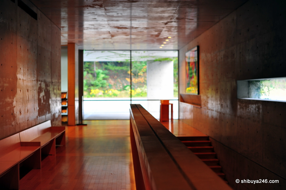 Inside Benesse House, designed by Ando Takao