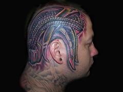 head (fleshmanuel) Tags: tattoo flesh mechanical head bio manuel hillbilly carrillo wounds tat2
