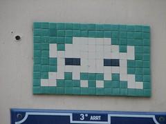 Space Invader in Lyon (deleted) (tofz4u) Tags: streetart tile lyon mosaic spaceinvader spaceinvaders invader 69 rhone mosaque artderue 69003