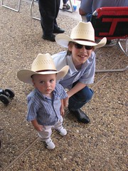 J. & M. at the Texas Cowboy Reunion parade