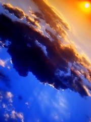 Sun in the corner (of the Plovdiv sky) (Emilofero) Tags: blue sunset red sky cloud sun color colour nature beauty bulgaria  plovdiv bulgarie peopleschoice bulgarien