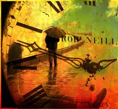 Waiting time. (Philip Ed) Tags: clock girl rain umbrella waiting time coolage artlibre platinumphoto superbmasterpiece diamondclassphotographer bratanesque hourofthediamondlight spectacularelite philipedmondson