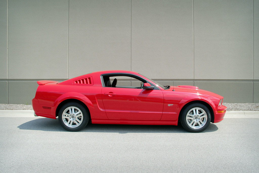 Torch Red Stangs W Side Window Louvers Mustangforums Com