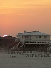 Sunset on beach house I - by balaji shankar