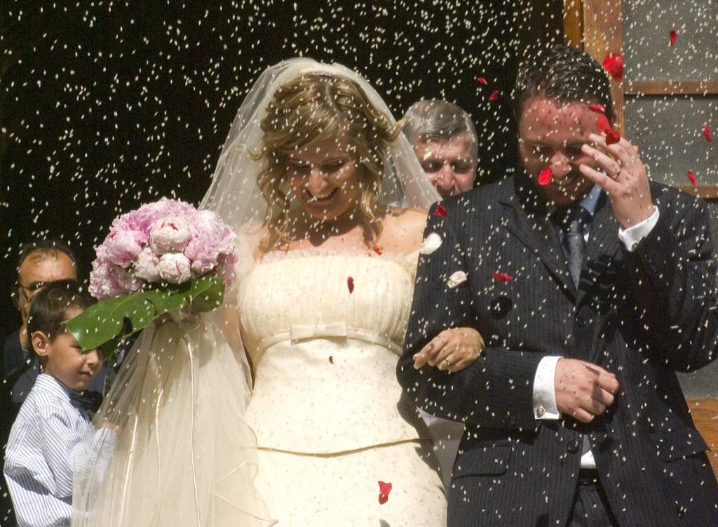 Rice storm wedding