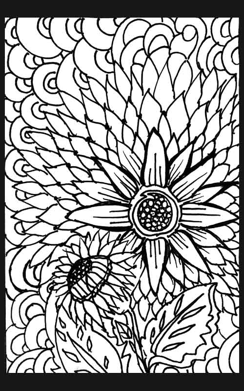 free coloring pages starburst flower