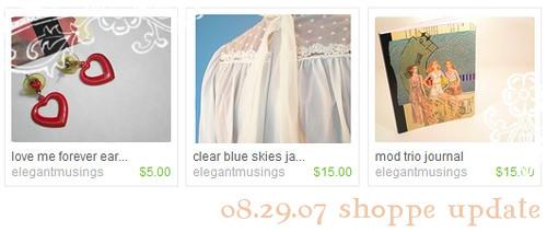 08.29.07 shoppe update