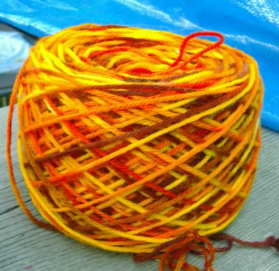 candy corn yarn