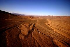 Vastness (Nada*) Tags: travel vegas blue red arizona sky orange usa landscape view desert grandcanyon nevada dry states helicoptertour