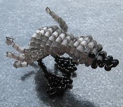 Patito gris. (naiarais) Tags: animal handmade artesania manualidades abalorios hechoamano bolitas hechopornaiara animalesdebolitas