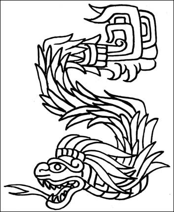 mexican tattoo designs. Quetzalcoatl Tattoo Design