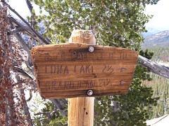 Trail Marker at Toxaway Divide