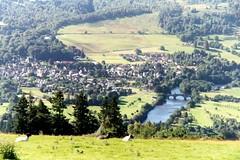 Aberfeldy (Peter Denton) Tags: uk tourism nature water rural 35mm river landscape scotland countryside europe rivertay perthshire bridges eu tay scanned analogue aberfeldy glassie peterdenton
