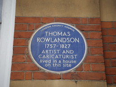 Photo of Thomas Rowlandson blue plaque