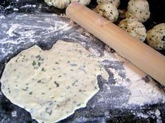 Coconut-Cilantro Flatbread: Rolling the Dough