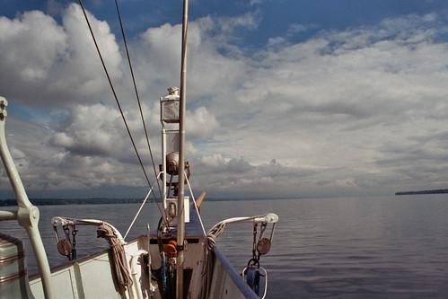 日内瓦去洛桑的船上