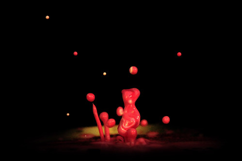 Gummy Bear playing with balloons