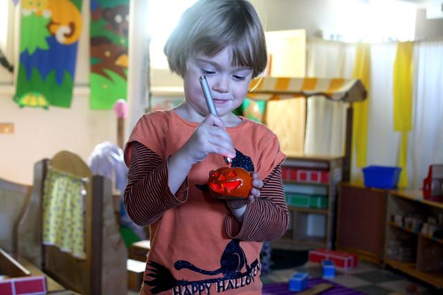 pumpkins at preschool - 7