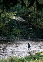 Fishing (Lets Bike It (Howard D Mattinson in Canonbie)) Tags: river scotland fishing border stock salmon seatrout stockphoto stockphotography esk angling dumfriesshire canonbie stockfoto naturessoundscom hdmattinson howarddmattinson