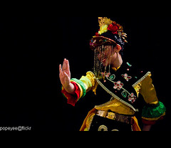 Indonesian Dance (Popeyee) Tags: pictures show travel costumes girls light bali music color colour art girl beautiful beauty festival female canon sumatra indonesia asian island java photo dance costume asia artist foto photographer dancing image photos stage traditional low group performance performing picture culture dancer images exotic fotos 7d gods classical 28 colourful charming hindu mythology 70200 indonesian trance cultural gamelan ubud barong indonasia balinese kecak matahari citra  pemuteran batubulan nusantara indonasian