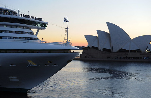 Sapphire Princess in Sydney by Princess Cruises