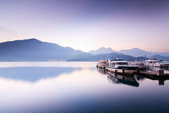 (samyaoo) Tags: lake mountains sunrise taiwan  wharf    sunmoonlake nantou        samyaoo