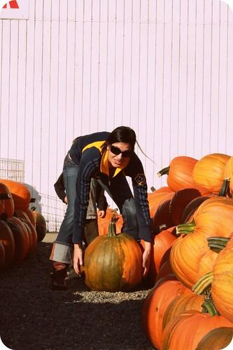 Mama-pumpkin patch