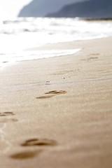 footprints (marlene*) Tags: beach spain footprints travelogue calblanque