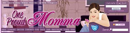 OneProudMomma.com blog header - blankPixels.com