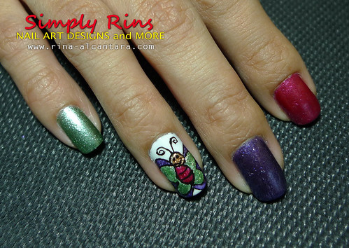 Nail Art Caronia Butterfly 09