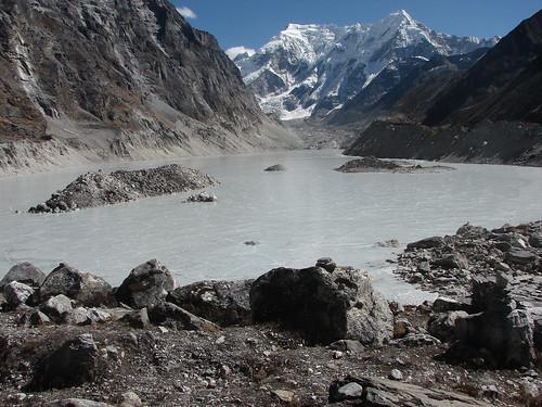 El glaciar Tso Rolpa, en el centro de Nepal, también se ve afectado por el cambio climático. Crédito: Kishor Rimal/IPS