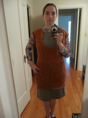 Glam Knits Dress in Progress