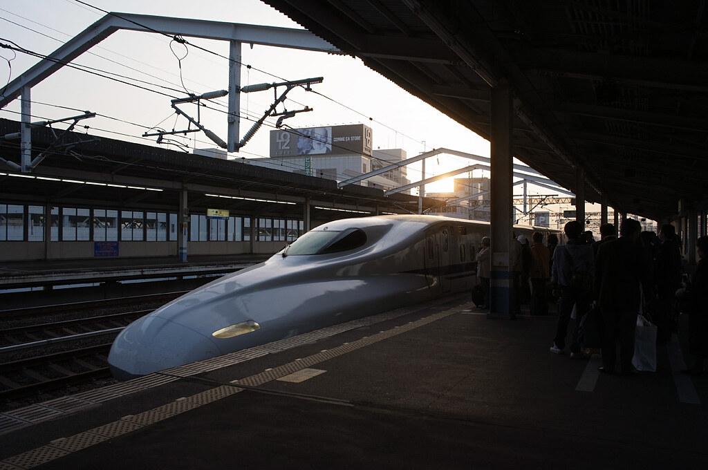 Nozomi Super Express at dusk