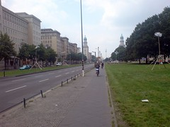 On the bike (Michael Lokner) Tags: berlin marx karl allee