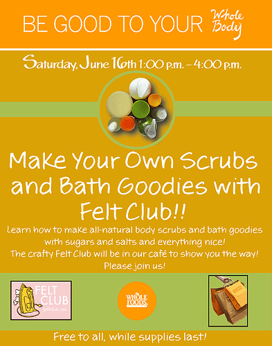 Felt Club's newest free crafty event