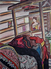"Artist's Bed • <a style=""font-size:0.8em;"" href=""https://www.flickr.com/photos/78624443@N00/549718025/"" target=""_blank"">View on Flickr</a>"