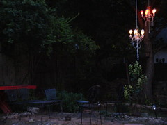 Backyard Chandelier (Brother_Shine) Tags: recycled chandelier outdoorlight