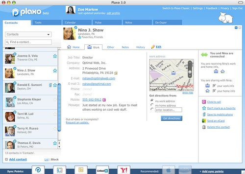 Plaxo 3.0 Address Book