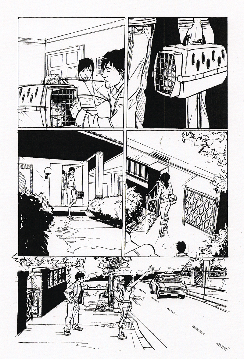 "Page 3, ""Me & the Cat,"" drawn by Joëlle Jones"