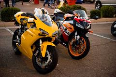 Ducati 1098 and Honda CBR 1000RR Repsol (Desert-Motors Automotive Photography) Tags: arizona cars phoenix honda scottsdale ducati pavilions repsol cbr 1098 1000rr