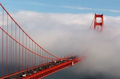 Suspension Bridge (A Sutanto) Tags: sf sanfrancisco california ca city bridge urban usa cars fog america goldengatebridge goldengate ggb anawesomeshot colorphotoaward superaplus aplusphoto superhearts eliteimages overtheexcellence