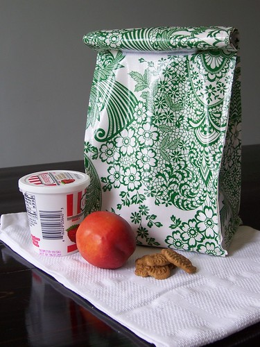 oilcloth lunch bag