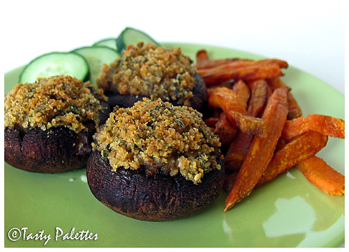 Florentine-Style Stuffed Mushrooms